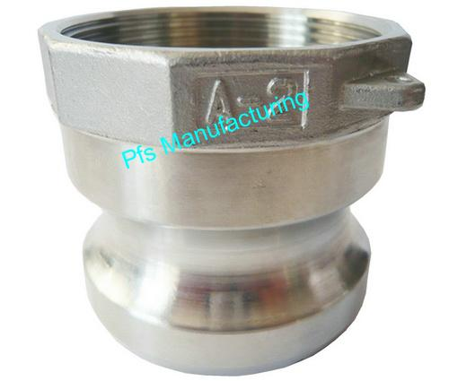 SS316 Camlocks Type A Plug (Male coupler) with Female thread