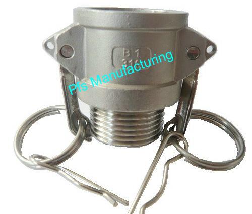 SS316 Camlock Type B Socket (Female coupler) with Male thread