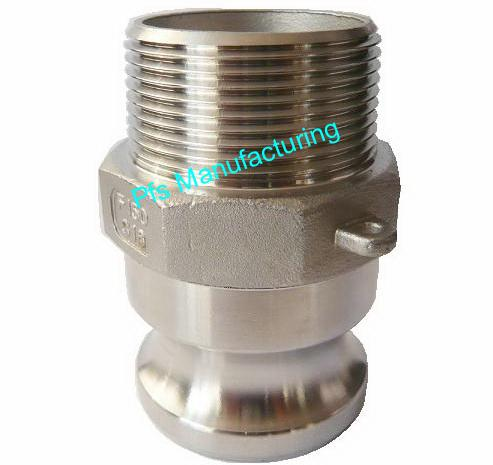 SS316 Camlock Type F Plug (Male coupler) with Male thread