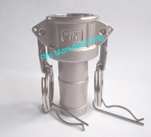 SS316 Type C(Female coupler) with Hose End